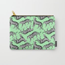 Tigers (Green and White) Carry-All Pouch