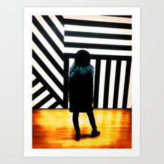 The Muse at the Museum Art Print