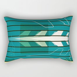 Missiles at dawn... in green! Rectangular Pillow