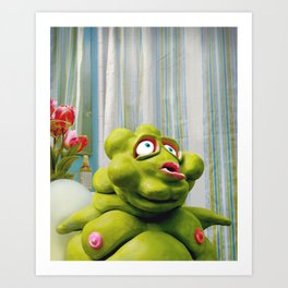Meet Chester: In the Ladies Room Art Print