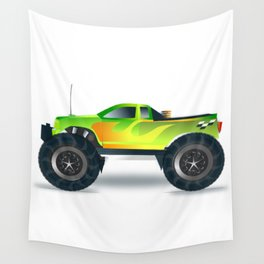 Monster Truck Toy Design Wall Tapestry