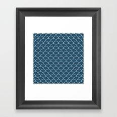 Escamas petróleo Framed Art Print