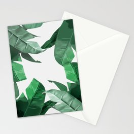 Tropical Palm Print Stationery Cards