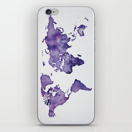 Purple World Map 01 iPhone Skin