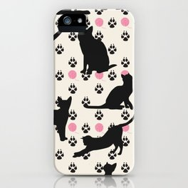 Mischievous Cats iPhone Case