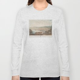 Vintage Pictorial Map of St Johns Newfoundland (1831) Long Sleeve T-shirt