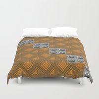 techno Duvet Covers featuring Techno by Karl-Heinz Lüpke