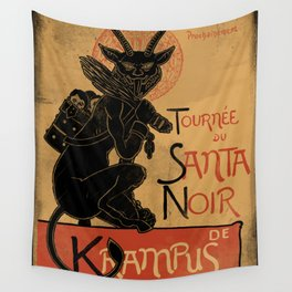Merry Krampus Wall Tapestry