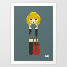 Rock Bitch Art Print