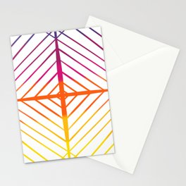 Sunset Gradient Lines Stationery Cards