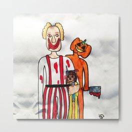 Scary Clown by Elisavet Metal Print