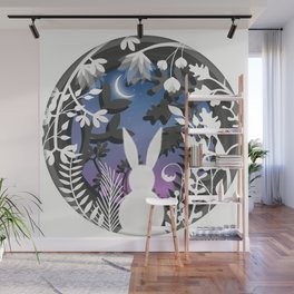 Moonlight Bunny Star Gazer Wall Mural