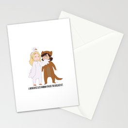 Swan Queen Mongoose Breakfast Stationery Cards