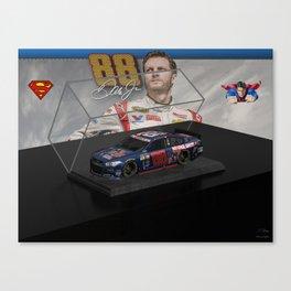 My Dale Jr. Super Man art. Canvas Print