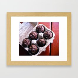 Lunchbox Cake Truffles Framed Art Print