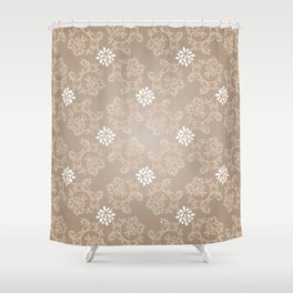 Beige silk Shower Curtain