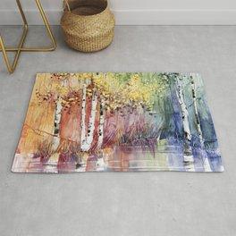 4 Season watercolor collection - summer Rug