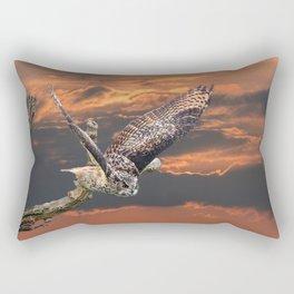 owl at sunset Rectangular Pillow
