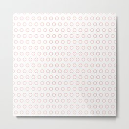 EMPTY DOT ((cherry red)) Metal Print