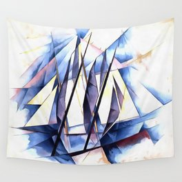 Sail In Two Movements After Charles Demuth Wall Tapestry