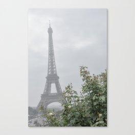 A Foggy Day on the Champ de Mars Canvas Print