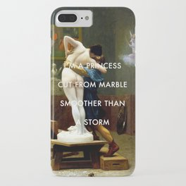 Pygmalion Cut From Marble iPhone Case