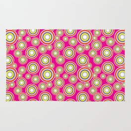 Circles on pink background Rug
