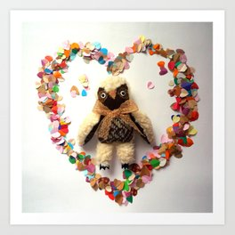 Owl will always love you Art Print