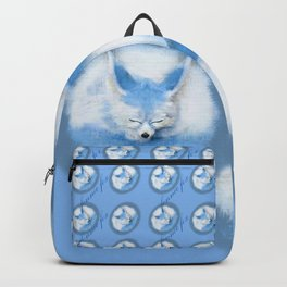 Sleeping Fennec Fox Blue Backpack