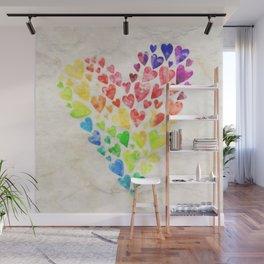 Rainbow Pride Heart Wall Mural