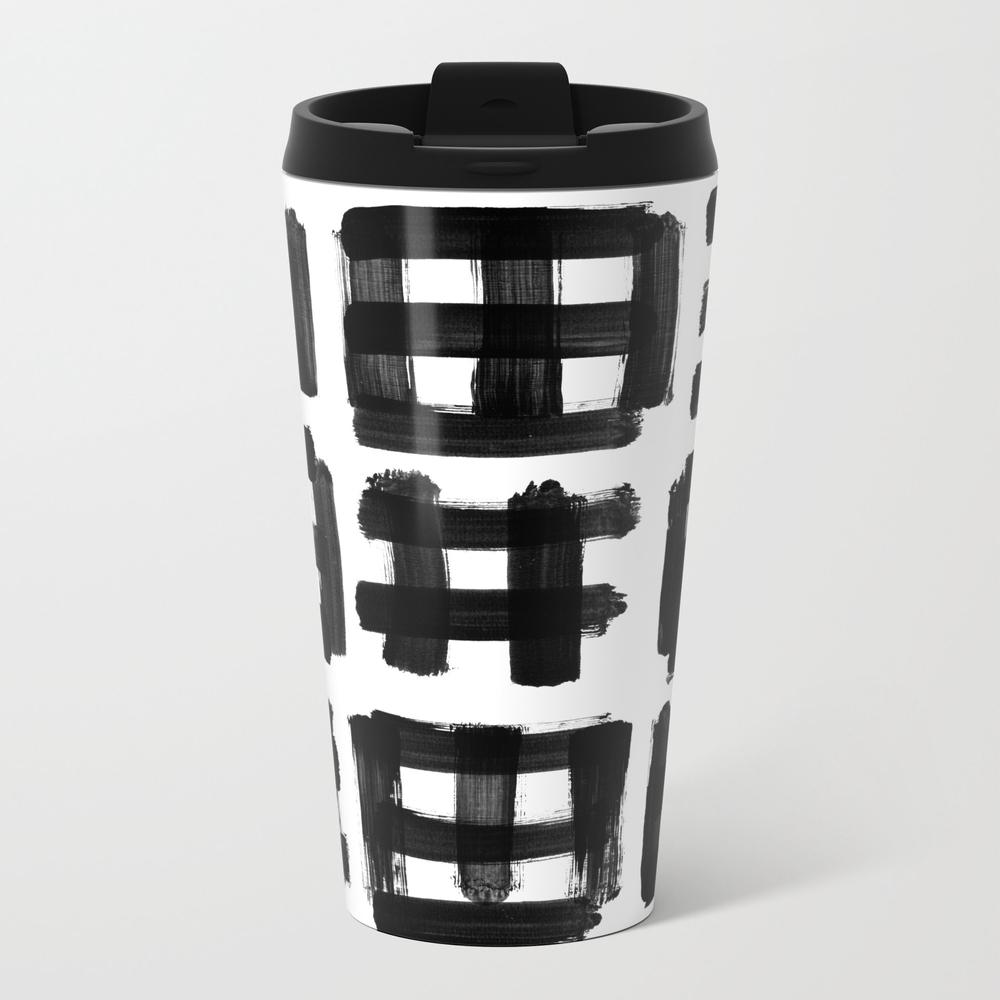 Brush Traces Black Metal Travel Mug by Ioanaluscov MTM8850903