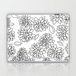 floating dahlias Laptop & iPad Skin