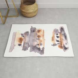 Soft Texture Watercolor | [Grief] Patches of Existence Rug