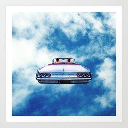 Cloudy Drive Art Print