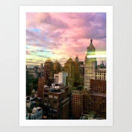 New York Sky Art Print