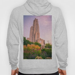 Pittsburgh Cathedral Of Learning Flower Garden Hoody