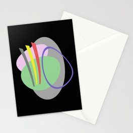 Mid Century IV - Abstract, pastel, minimalism Stationery Cards