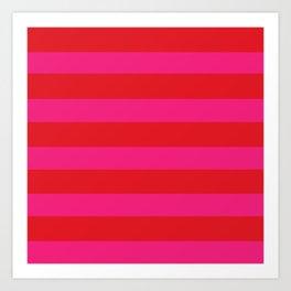 Red Horizontal Stripes Graphic Art Print