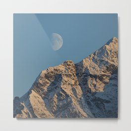 Moon Over Pioneer Peak - II Metal Print