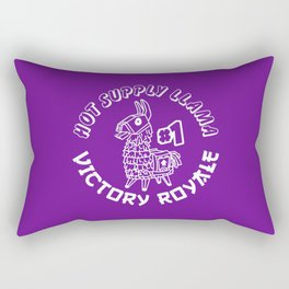 Hot Supply Llama Victory Royale Sriracha Rectangular Pillow