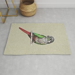 Green-cheeked conure Rug