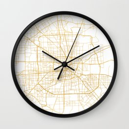 HOUSTON TEXAS CITY STREET MAP ART Wall Clock