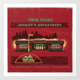 SHERIFF'S DEPARTMENT Art Print