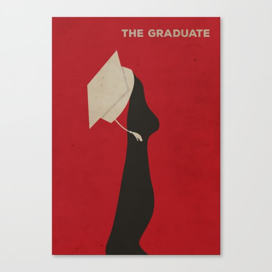 The Graduate Minimalist Poster Canvas Print