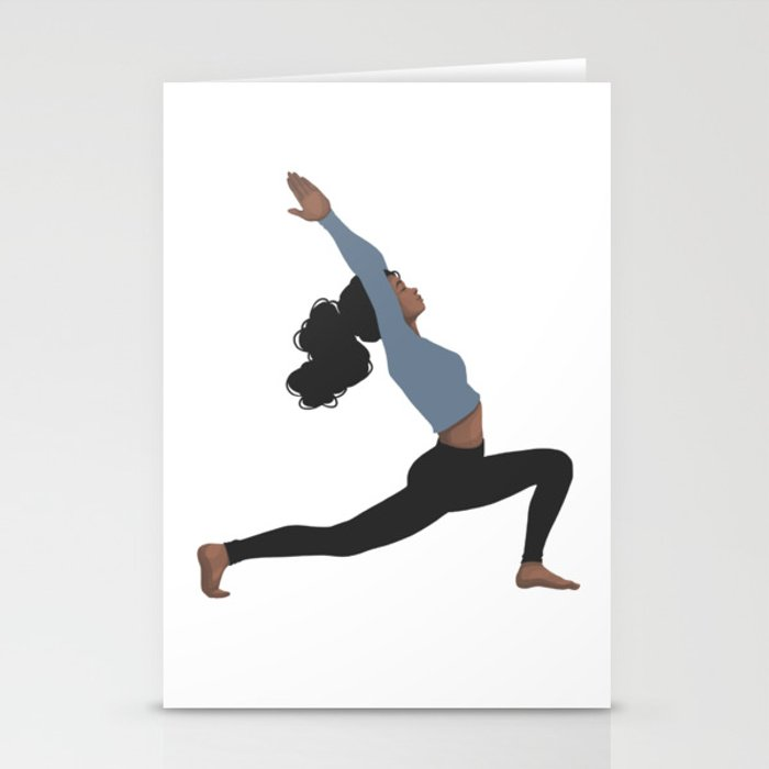 Yoga Girl Blue II Stationery Cards
