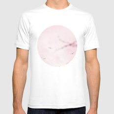 Pastel Winter Sky  White Mens Fitted Tee SMALL