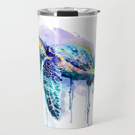 Watercolor Sea Turtle Travel Mug