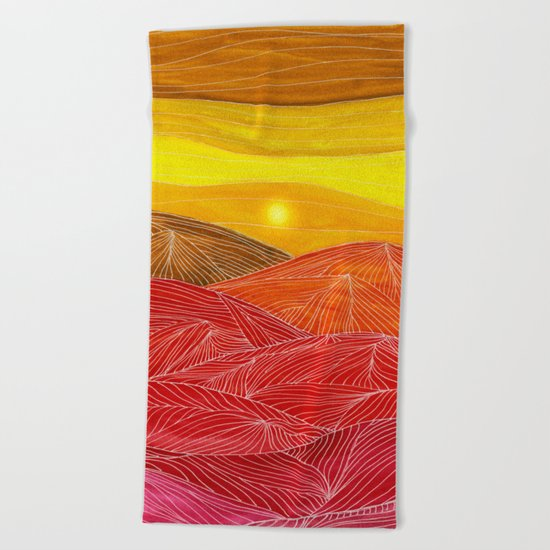 Lines in the mountains IX Beach Towel