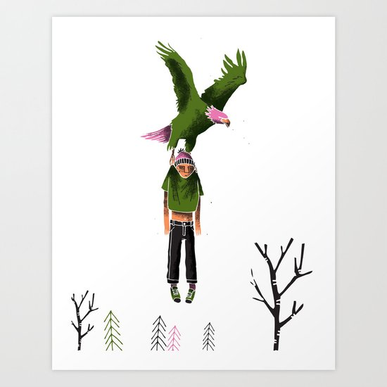 //Carried away// Art Print