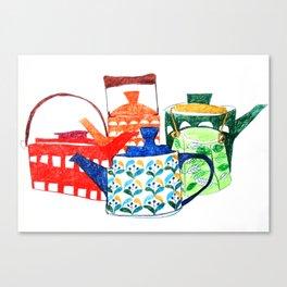 Scandinavian Tea pots Canvas Print